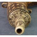 Antique 17th -18th Century Hungarian Gun Powder Flask Horn Transylvanian