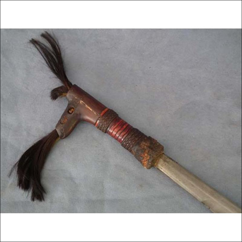 Antique Sword Mandau Parang Ihlang of Head Hunters Dayak Borneo