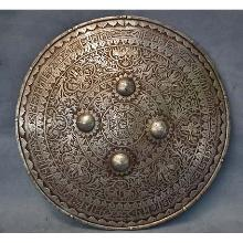 SOLD Antique 18th century Indo Persian Mughal Shield Dhal Separ