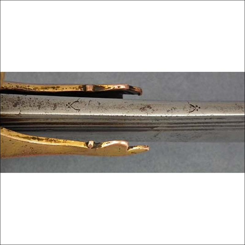 SOLD Antique Indian Islamic Mughal Sword Talwar Tulwar with 17th c European Blade