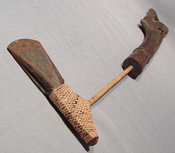 Antique Malaysian axe Biliong Borneo circa 1900