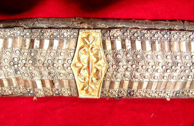 ANTIQUE TURKISH BALKAN SILVER BELT FOR YATAGAN