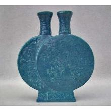 SOLD Chinese Porcelain Robin's Egg Double Moon flask Vase