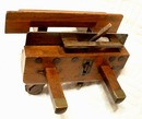 Antique Wooden Plane with Brass Fittings, 19th century