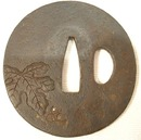 ANTIQUE SAMURAI SWORD TSUBA, EDO PERIOD