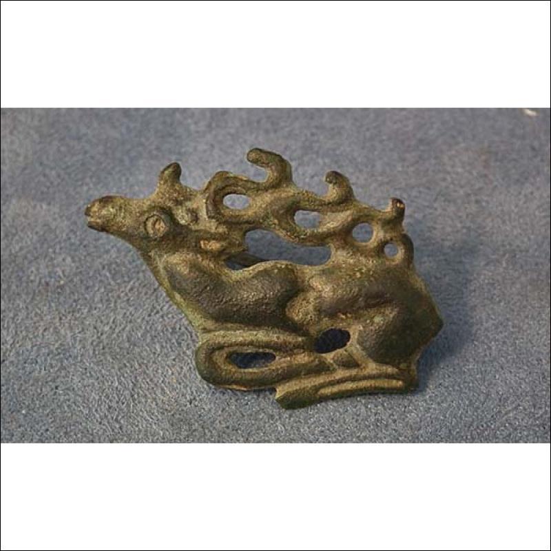 Ancient Scythians Bronze Fibula Deer Brooch 6th-4th century BC