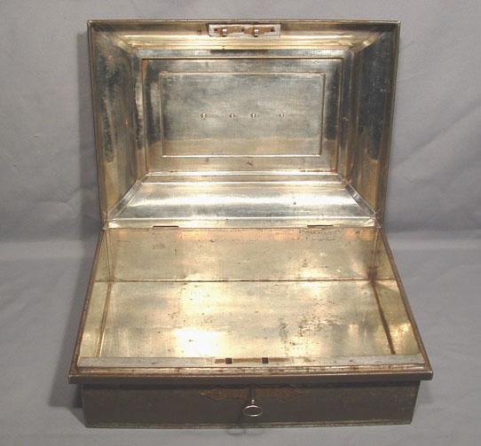 ANTIQUE, AMERICAN, CIVIL WAR TIN DOCUMENT BOX