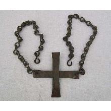 Antique Byzantine Bronze Cross circa 5th -7th century AD