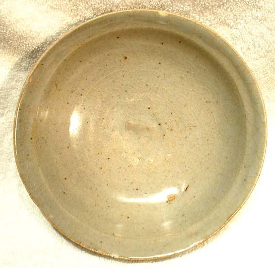 ANTIQUE CHINESE CELADON CERAMIC BOWL,317-420 AD