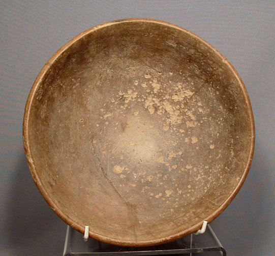 Ancient Ceramic Pre Columbian Mayan Polychrome Bowl, 250-450 AD