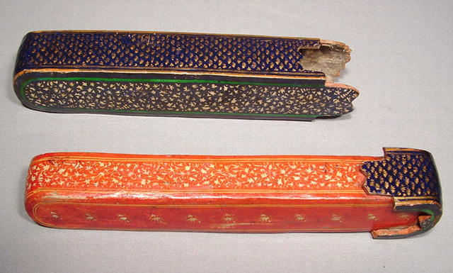 Safavid Qalamdan, Paper Mache Lacquer Pen-Box,