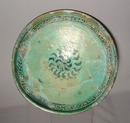 Antique Islamic Syrian Ceramic Bowl, 13th Century