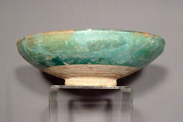 Antique Islamic Syrian Ceramic Bowl, 13th Century