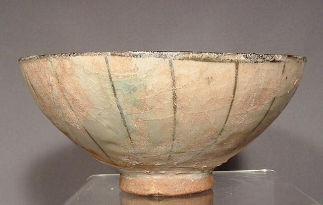 Antique Islamic Ceramic Bowl, Persia, 13th c