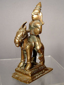 Brass Figure of  Shiva on Horse, India 18th c.