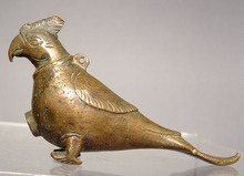 Islamic Bronze Parrot - scent bottle, 10th