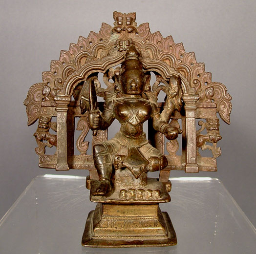 Antique Bronze Deity Shiva, 17th Century India