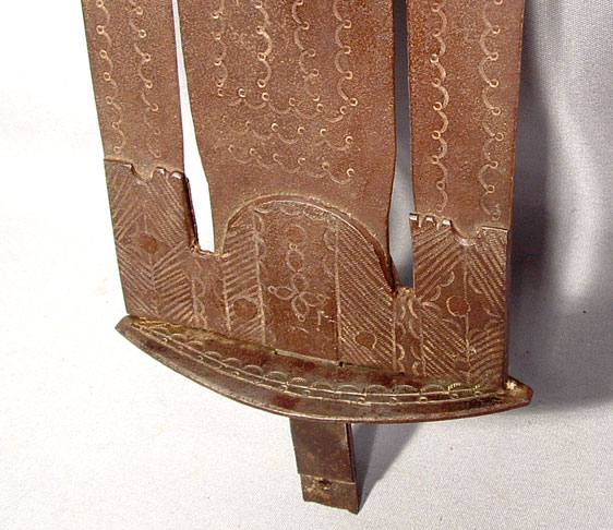 Antique African Trident Speer, 19th Century