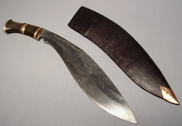 ANTIQUE NEPALESE COMBAT KNIFE KUKRI, 19TH
