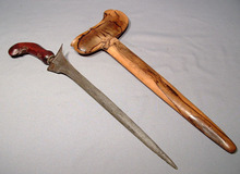 ANTIQUE SHORT SWORD KRIS, CIRCA 1800
