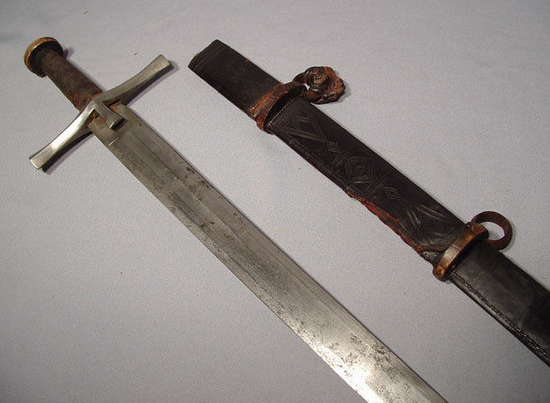 ANTIQUE ISLAMIC DERVISH SWORD KASKARA, 19TH