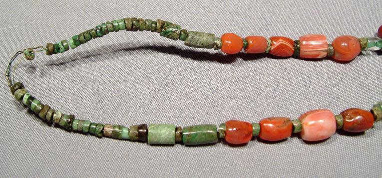 Antique Pre-Columbian Tairona culture necklace 500-1500AD Carnelians Jade Rock crystal