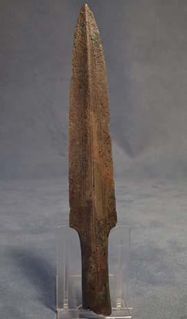 Ancient European Bronze Socked Spearhead Bronze Age 11th-8th c B.C.