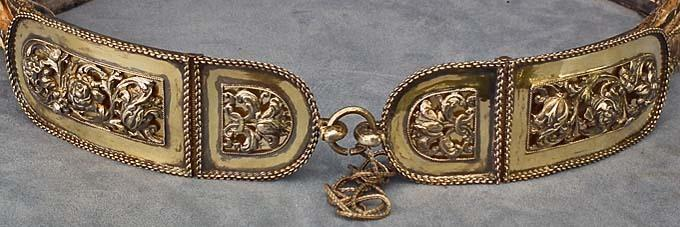 SOLD Antique Hungarian Polish Silver Mounted Sword Belt 17th -19th century
