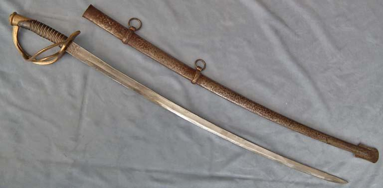 SOLD Authentic antique American Civil War Confederate Cavalry Saber Dog River Sword
