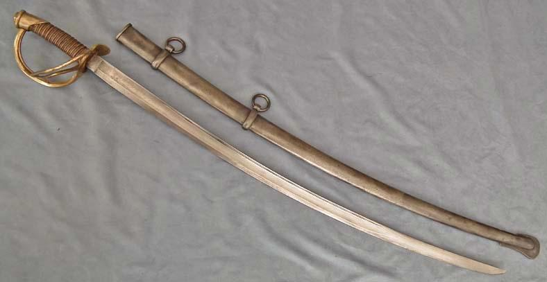 Authentic Antique American Civil War Confederate Cavalry saber Wristbreaker Sword