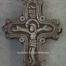 Antique post Byzantine silver orthodox pectoral reliquary cross 16-17th c