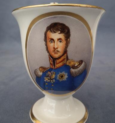 Napoleonic Berlin porcelain portrait Friedrich Wilhelm III & Queen Louise of Prussia 19th c
