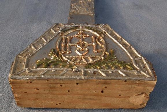 Antique 17th century Baroque silver Crucifix Cross