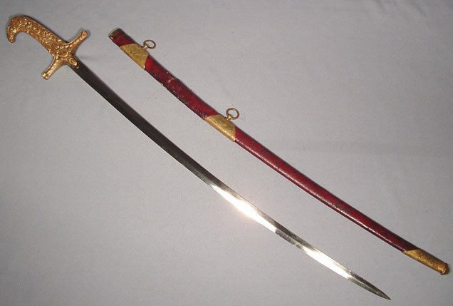 ANTIQUE SWORD, AMERICAN MAMELUKE STYLE, 19TH CENTURY