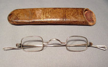 Antique American Civil  War period Silver Spectacles