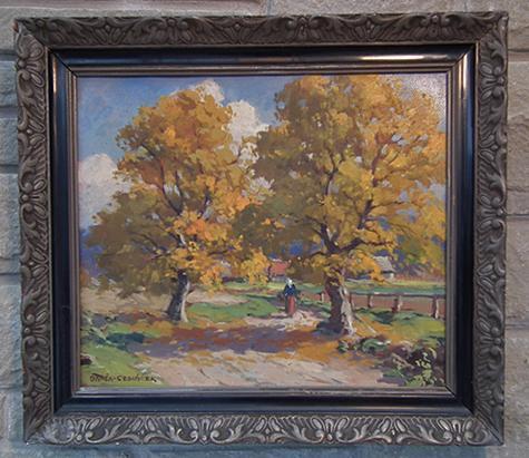 Czech landscape oil painting by Czech Painter Frantisek Danek - Sedlacek