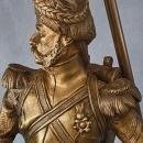 Antique Napoleonic Bronze Sculpture Napoleon's Grenadier by Luca Madrassi
