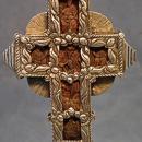 Antique Ukrainian Orthodox Greek Silver & Wood Blessing Altar Cross 18th c