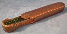SOLD Antique Indo Persian paper-mache lacquer Islamic pen-box Qalamdan 18th c