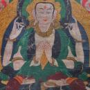 Antique Tibetan Thangka Thanka Avalokiteshvara Buddha Tangka 18th 19th c