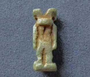 Ancient Egyptian Blue Faience Amulet God Anubis 664-332 BC