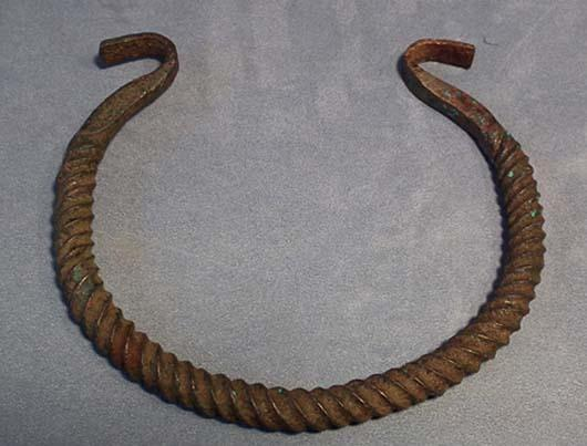 Ancient Celtic Bronze Torc Torque 7th-3rd century BC