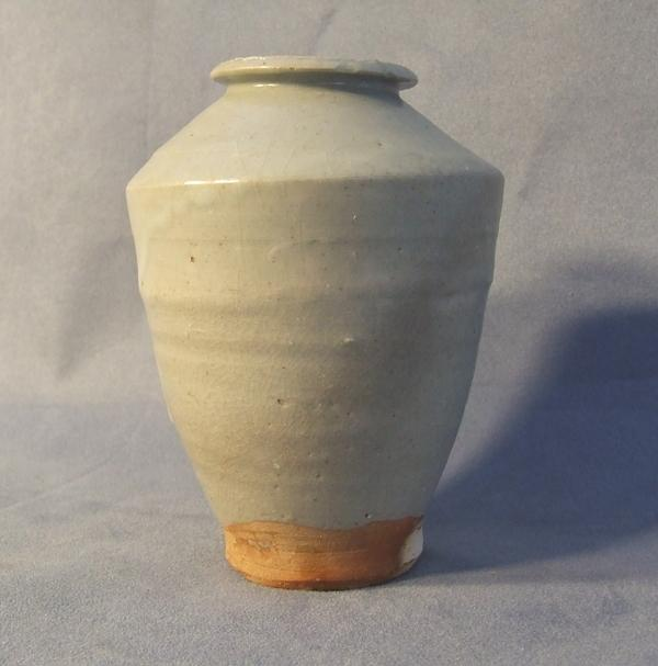 Antique Chinese Celadon Longquan Vase 14th to 15th Century