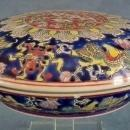 Antique Chinese Qing Dynasty Porcelain Dragon Box Qianlong Mark
