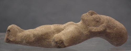 Antique Pre-Columbian Jama-Coaque Female Ceramic Figure 300 BC-400 AD