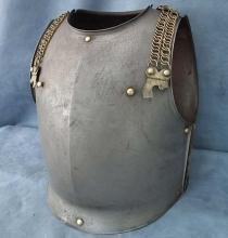 SOLD Antique 19th c French Cavalry Cuirassier Armor Cuirass Breast plate Back plate