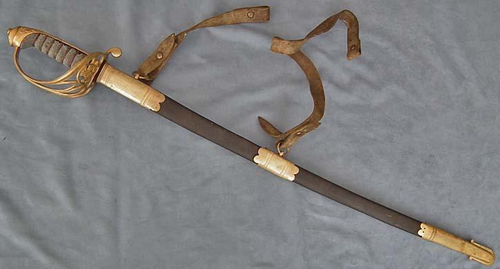 SOLD A scarce Antique 19th c British Victorian Infantry Sergeant's Sword Sabre 1822/1845 Pattern
