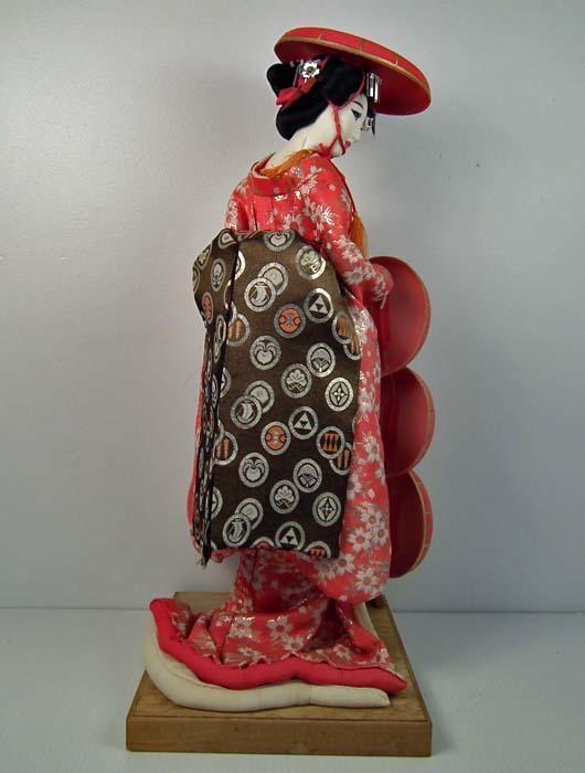 Huge old Japanese Geisha Courtesan Doll Showa Period