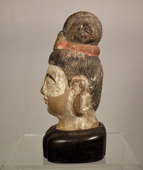 Antique Chinese Ming Dynasty Terracotta Head Avalokiteshvara Bodhisattva Guanyin Quan Yin