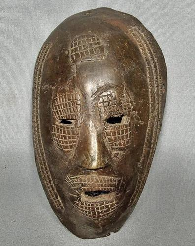 Authentic antique early 19th – early 20th c African Ancestral Bronze Mask